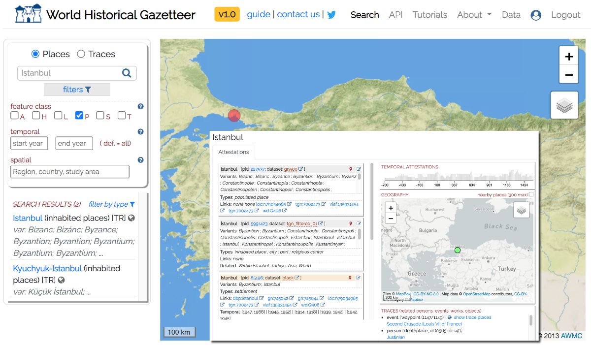 World Historical Gazetteer